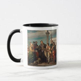 Mötet mellan Titian (1488-1576) och Verones Mugg