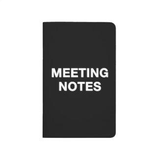 Mötet noterar anteckningsboken anteckningsbok