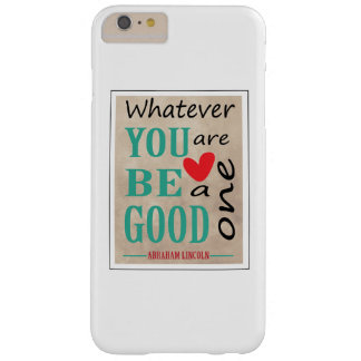 Motivational Abraham Lincoln citationstecken Barely There iPhone 6 Plus Skal