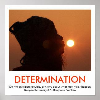 Motivational affisch för BESLUTSAMHET