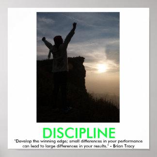 Motivational affisch för DISCIPLIN