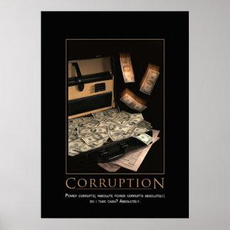 Motivational affisch för korruption