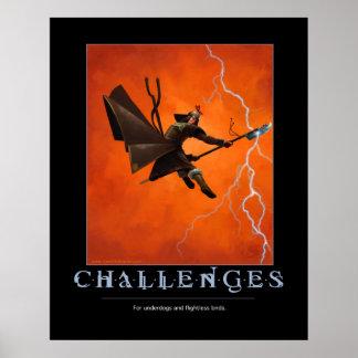 Motivational affisch för utmaningar poster