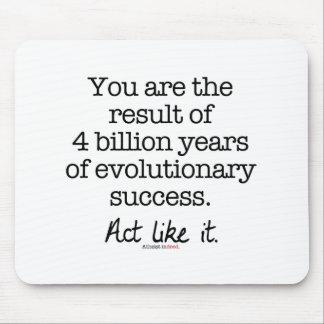 Motivational citationstecken för evolutions- musmatta