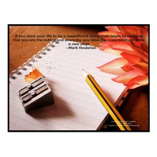 Motivational citationstecken-- Gör liv en Vykort