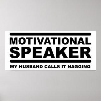 Motivational gnatig rolig affisch
