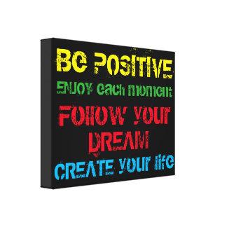 Motivational kanfas canvastryck
