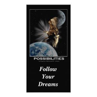 """Motivational kort """"följ för dina drömmar"""" fotokort"""