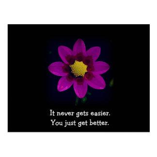 Motivational och inspirera blom- vykort