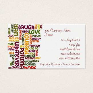 Motivational realitetuppmuntran för ord #1 visitkort