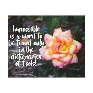 Motivational rosa ros canvastryck