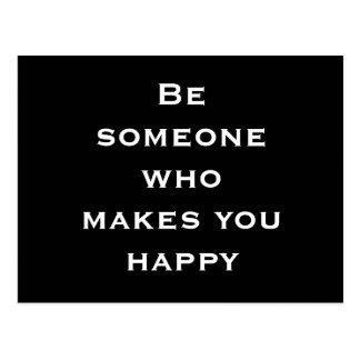 Motivational vykort för lycka