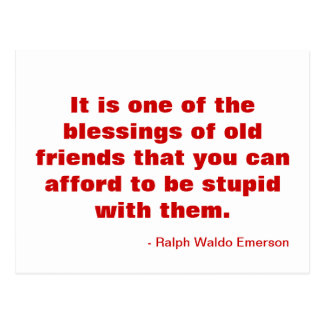 Motivational vykort om vänskap