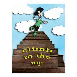 motivera-klättring till det bästa vykort
