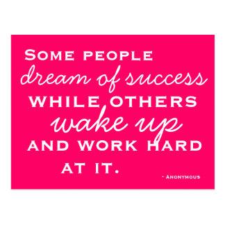 Motiverad och inspirerad vykort
