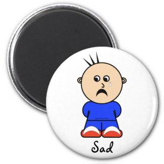"Moto ""ledsen"" magnet magnet för kylskåp"