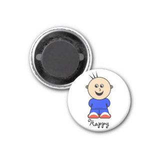 "Moto ""lycklig"" magnet"