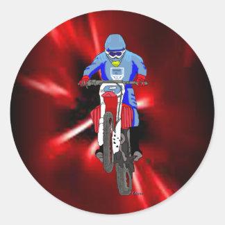 Motocross 101 runt klistermärke