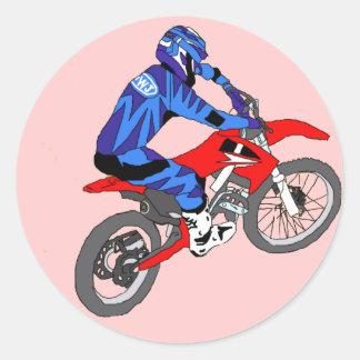 Motocross 200 runt klistermärke