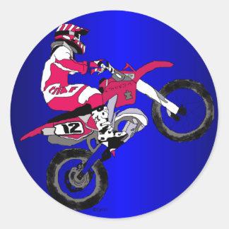 Motocross 302 runt klistermärke