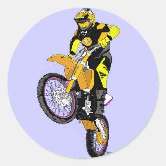 Motocross 400 runt klistermärke