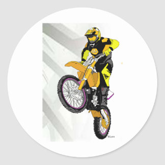 Motocross 401 runt klistermärke