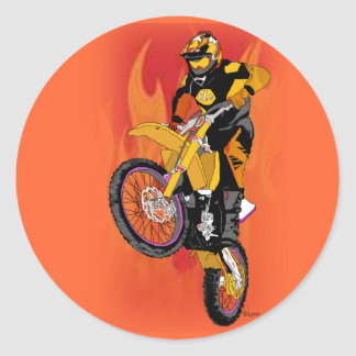 Motocross 403 runt klistermärke