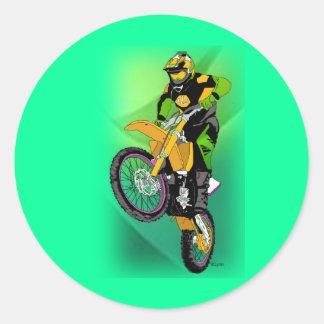Motocross 406 runt klistermärke