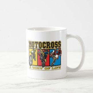 Motocross en livsföring kaffemugg
