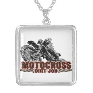 Motocross Silverpläterat Halsband