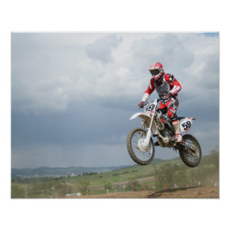 Motocrosscykel Poster