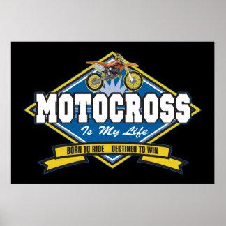 Motocrossen är mitt liv poster