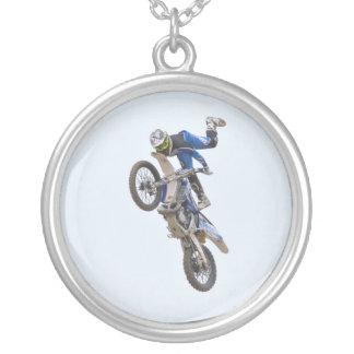 Motocrossytterlighettrick Halsband Med Rund Hängsmycke