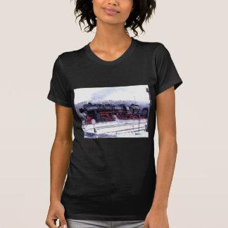 motor för station för ångatåg järnväg rörlig t-shirts