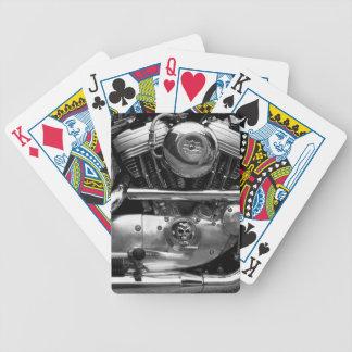 Motorbikemotor som leker leka kort spelkort