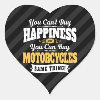Motorcyclisten Cant köplyckan kan köpmotorcykeln Hjärtformat Klistermärke