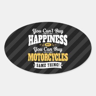 Motorcyclisten Cant köplyckan kan köpmotorcykeln Ovalt Klistermärke