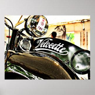 Motorcykel för Velocette M serievintage Poster