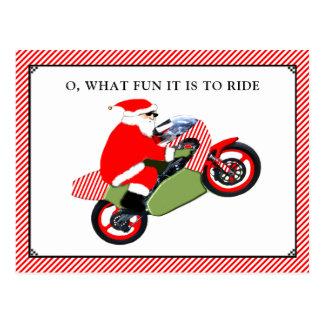 motorcykeljulkort vykort