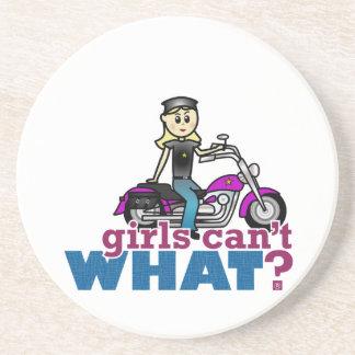 Motorcykelkvinna Underlägg