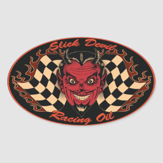 Motorisk olje- klistermärke för glättad djävulen