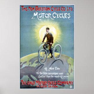 Motoriska Beeston cyklar, 1896 Poster