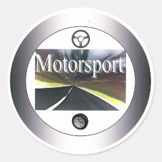 Motorsport - klistermärkerunda runt klistermärke