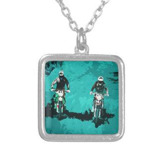 Motorsport Silverpläterat Halsband