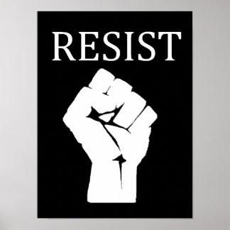 MOTSTÅ den Anti Donald Trump för näven affischen Poster