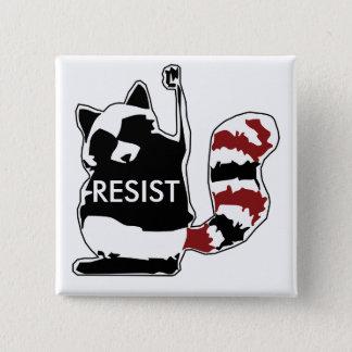 Motstå den politiska raccoonen knäppas standard kanpp fyrkantig 5.1 cm