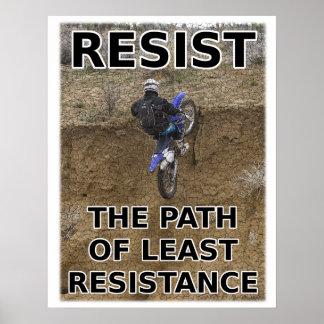 Motstå minst affisch för Motocross för