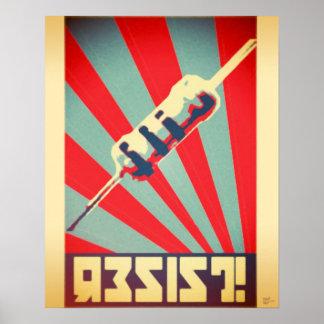 Motstå propagandaaffischen poster