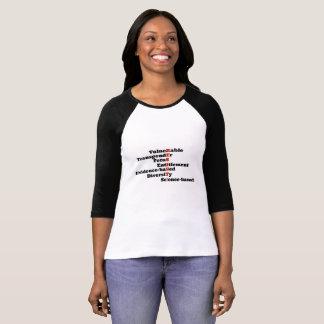 Motstå t-skjortan med CDC förbjuden ord T-shirt