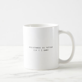 Motstånd är fruktlöst kaffemugg